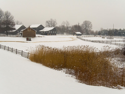 """Historic Winter Farm"" A Winter view of the historic Longstreet farm in Holmdel, New Jersey."