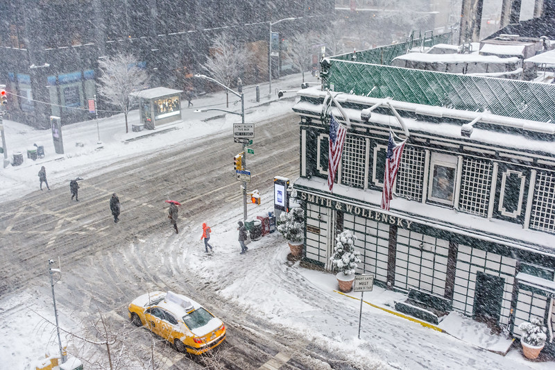 Snowy City Intersection