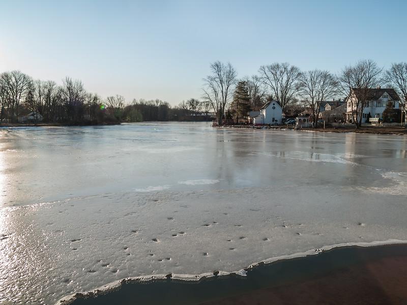 Ice on Lake Weamaconk