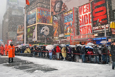 """The Snow Must Go On""  February 2010 Blizzard Times Square"