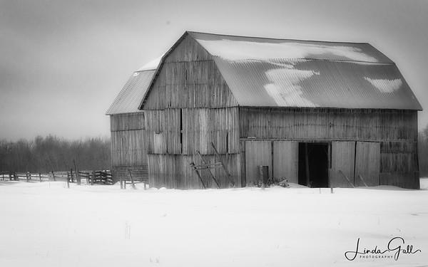 Winter's Chilly Barn