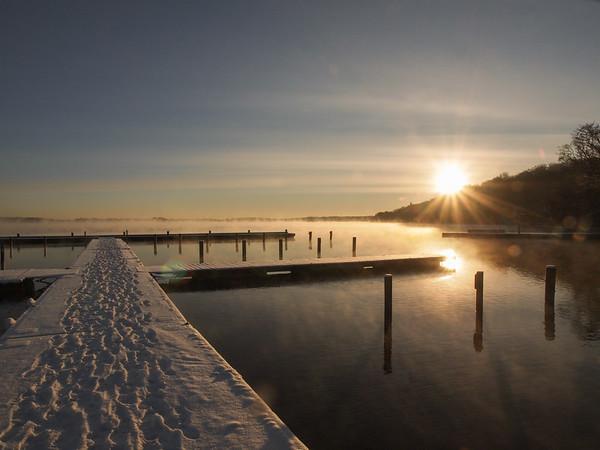 Winter morning 2014 - Minus 12 degrees by Furesøen. Photo: Martin Bager
