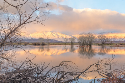 Eastern Sierra Sunrise in Winter from Farmers Pond