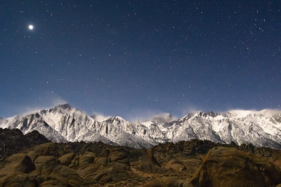 Venus sets over the Whitney Range