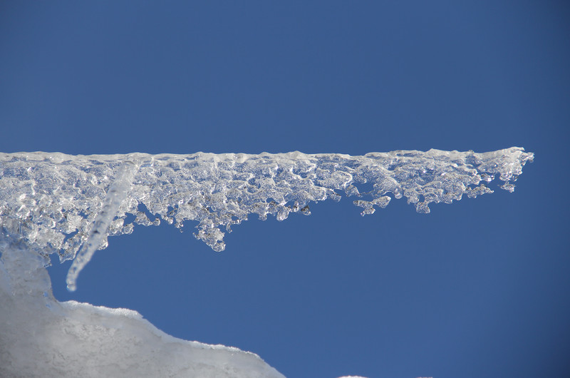 Icicle Sculpture and Blue Sky