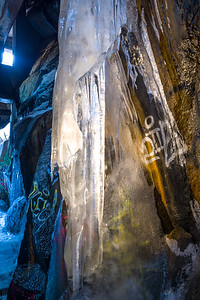 Ice and Graffiti, Donner Pass Snowsheds