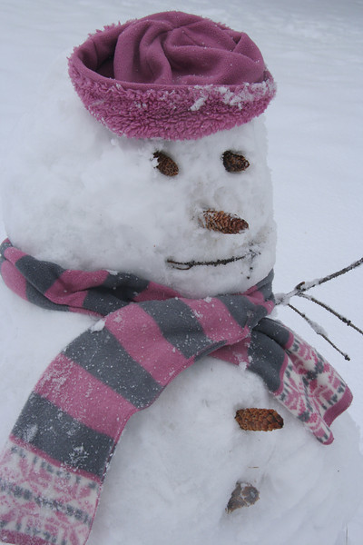 """Winslow"" the snowman"