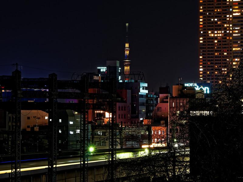 東京スカイツリー バレンタイン特別ライティング『Brown Chocolat』