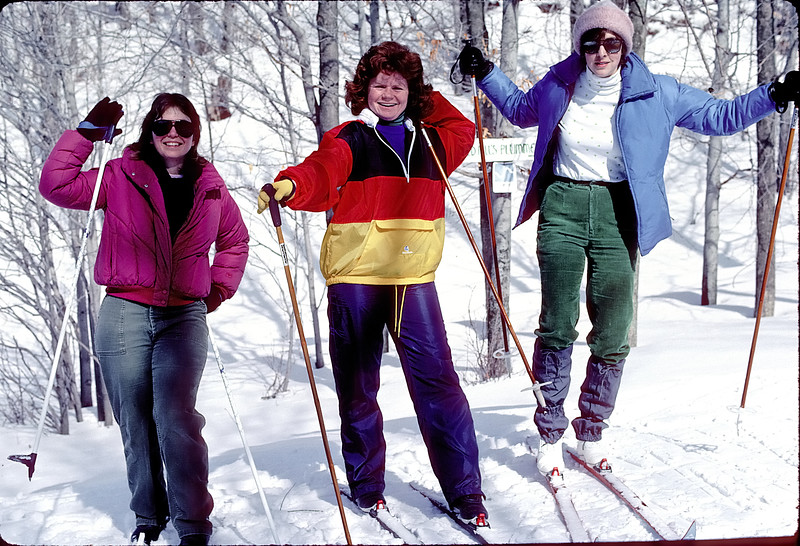 Cross-country skiing - Rissa, Heather, Diane - December 1985