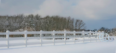 Love the white snow on the white fence