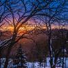 Sunset and Snowfall