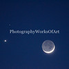 This is the Crescent Moon with Venus and Mars
