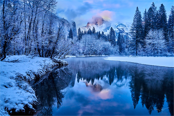 Winter Reflection, Half Dome, Yosemite