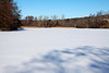 Furstenberg Lagoon, frozen hard enough to walk (or skate) on, and inviting me out onto it.<br /> <br /> January 23, 2011.