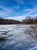 Winter river snowscape