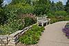 A bench in the Gateway Garden.<br /> <br /> Matthaei Botanical Gardens, Ann Arbor, Michigan<br /> July 18, 2012<br /> (nex5n)