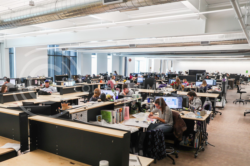 Huge work areas give student plenty of space and resources to achieve. (Photo by Cooper Kinley | Collegian Media Group)