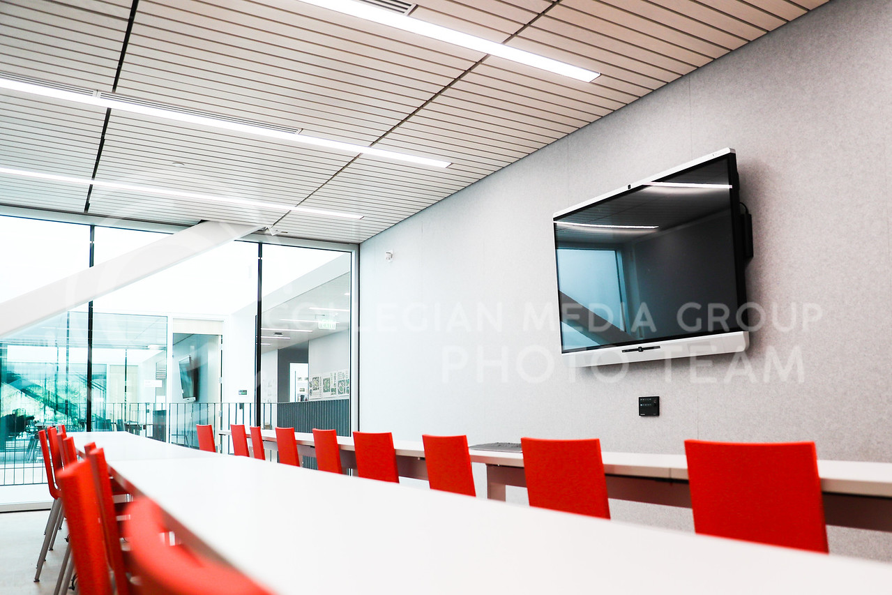 A new classroom inside of Seaton Hall. (Photo by Cooper Kinley | Collegian Media Group)