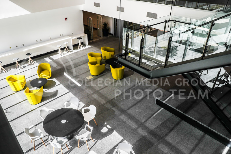 The sitting area connected to the library in Seaton Hall. (Photo by Cooper Kinley | Collegian Media Group)