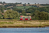 Tram No. 12 heading away from Seaton towards Colyford, on 28th September 2015.