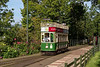 Tram No. 6 about to run into Colyton Station to pick up passengers, <br /> before heading back to Seaton, on 29th September 2015.