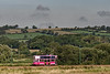 Tram No. 11 heading away from Seaton towards Colyford, on 28th September 2015.