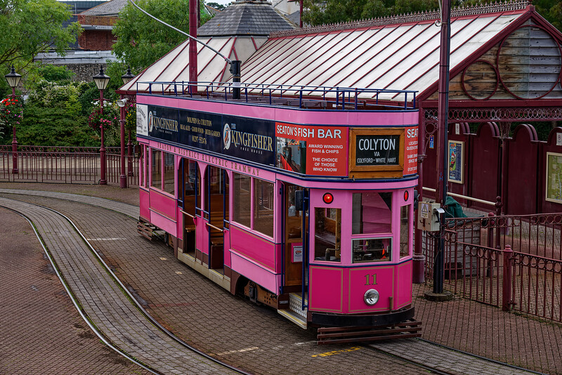Tram No. 11 at the Seaton Terminus, on 29th September 2016.