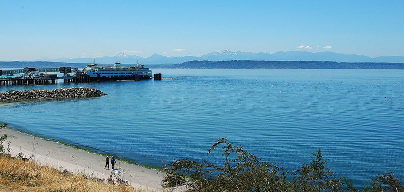 Washington State Ferry, Edmonds, Washington, Olympic Mountains in the background
