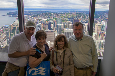 Good times wioth family atop Columbia Tower