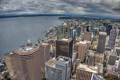 View of Puget Sound from Columbia Tower