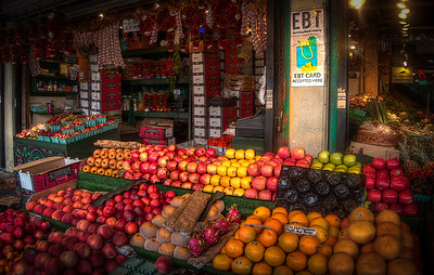 Pike's Place is a place of business for many small farmers, craftspeople and merchants.