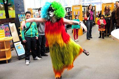 Soundsuit Invasion at the Ballard Library 3-26-11
