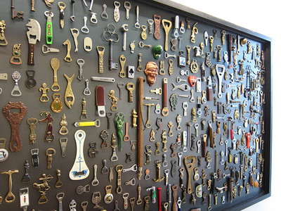 "Collection of Bottle Openers in the ""Collections Cafe"""