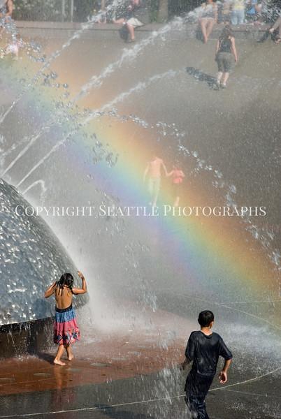 Seattle Center Fountain Rainbow 7