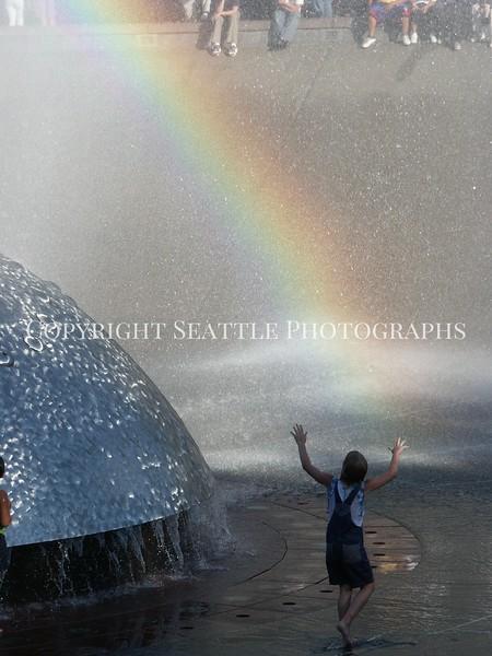Seattle Center Fountain Rainbow 18