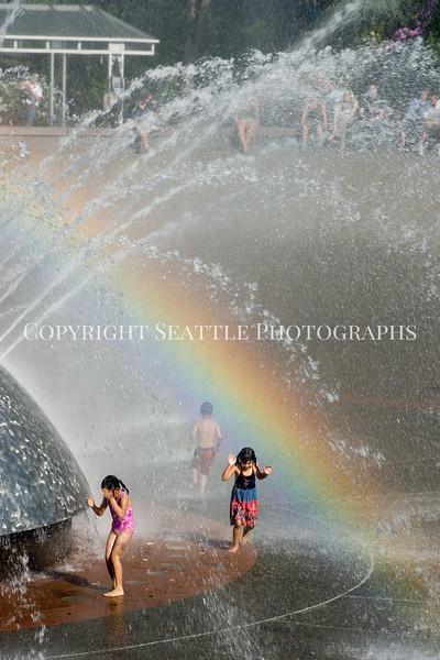 Seattle Center Fountain Rainbow 9