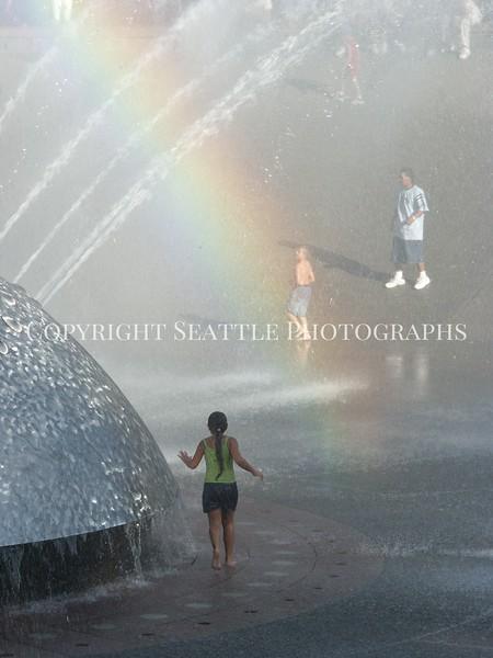 Seattle Center Fountain Rainbow 17