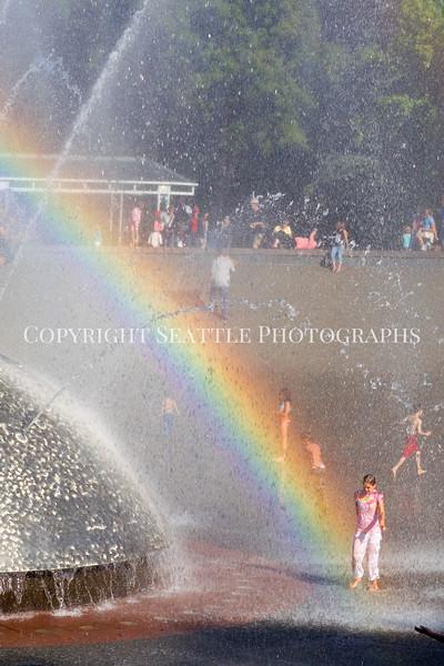 Seattle Center Fountain Rainbow 102
