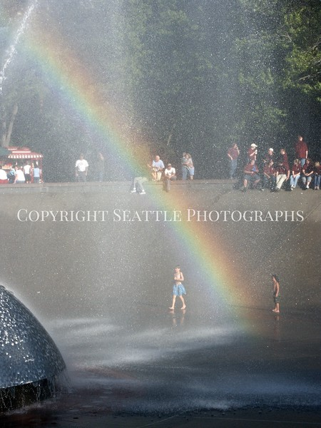 Seattle Center Fountain Rainbow 14