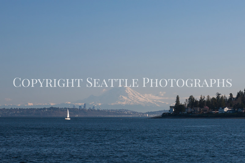 Downtown Seattle from the Edmonds Ferry 101