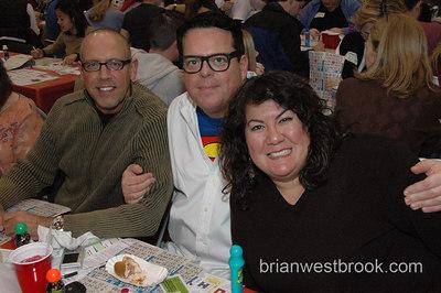 Clark Kent (aka. Frank P.) was spotted at the Lifelong AIDS Alliance's Superhero Gay Bingo fundraiser 13 January, 2006 in Seattle, WA