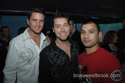 Reichen Lehmkuhl, Lance Bass greet fans at Sugar Seattle on November 10, 2006.