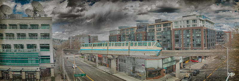 Seattle Monorail in HDR
