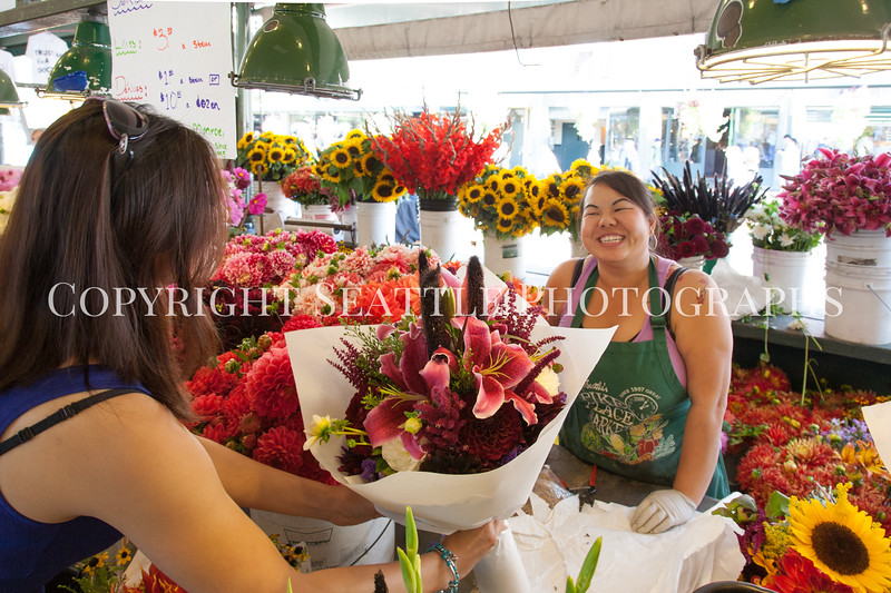 Pike Place Market Flowers 123
