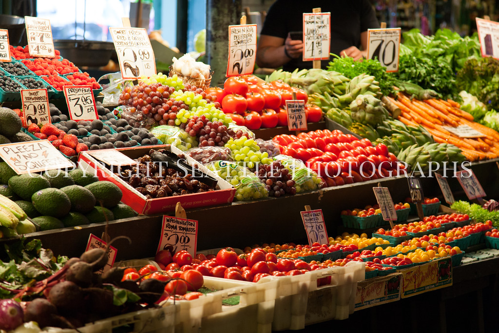 Pike Place Market Vegetables 113