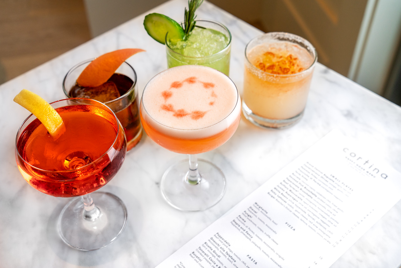 Cocktails at Cortina in Downtown Seattle