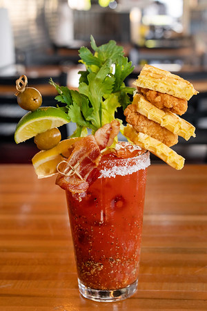 Bloody Mary at Wing Dome, Seattle
