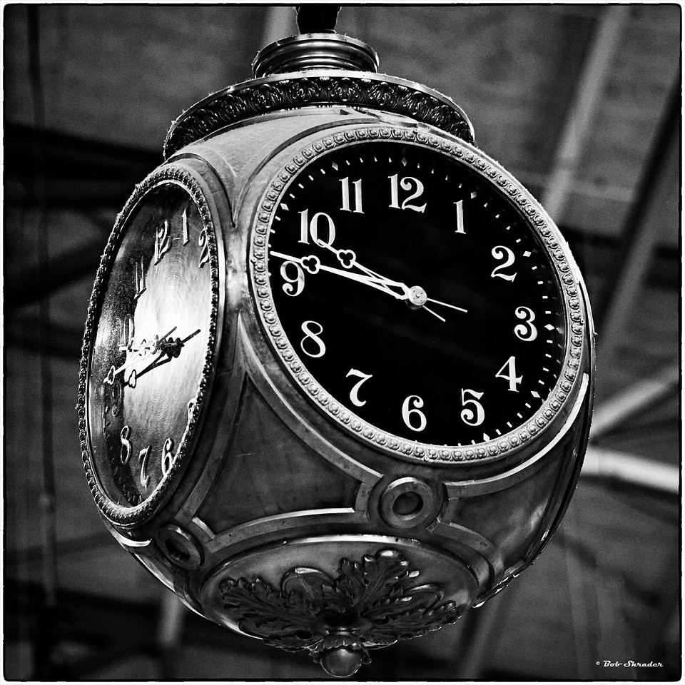 Clock in Black and White