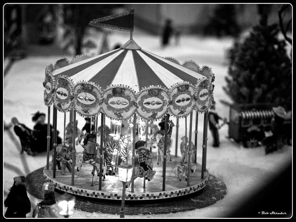 Carousel in Black and White