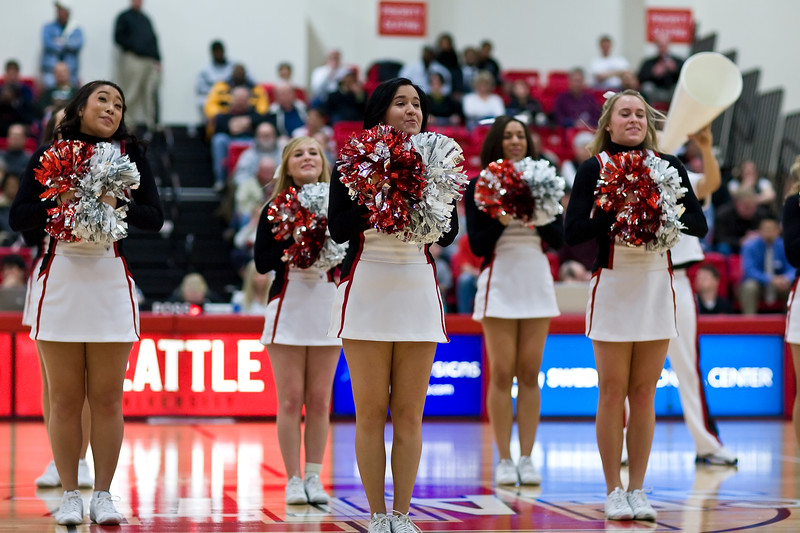 Seattle University Cheer Team. Images are for personal use only. Under no circumstances are these photos approved for promoting commercial products or allowed to appear on commercial items. Per NCAA Division I Manual Section 12.5.2.2